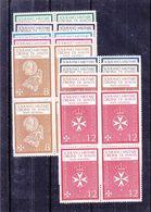 Ordre De Malte - Yvert 1 / 9 ** - MNH - Bloc De 4 - - Malte (Ordre De)