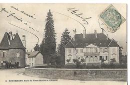 Carte Ancienne / 25 ROUGEMONT Porte Du Vieux Moulin Et L'Hôpital / Tampon Ambulant - Besancon