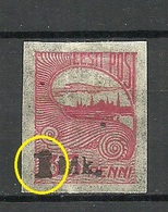 ESTLAND ESTONIA Michel 19 E: 8 ERROR Variety Abart * - Estland