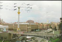 """Khïb Kheb Kyiv - Square Of Independence, Reconstruction 2001 - Timbre """" Epis De Blé"""" - Ukraine"""