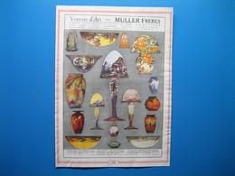 (1930) Verrerie D'Art MULLER Frères à Lunéville (Meurthe-&-Moselle) - Vieux Papiers