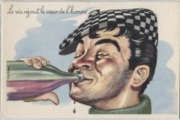 CPSM - ILLUSTRATION CARRIERE L. - Thème ALCOOL - Edition Photochrom / N°381 - Carrière, Louis