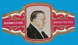 1 BAGUE DE CIGARE GRAND FORMAT BOUWMEESTERS ARCHITECTES GERRIT RIETVELD NEDERLAND PAYS BAS  (  119 MM ) - Bagues De Cigares
