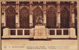 X51145 CHÂLONS-sur-MARNE Monument Aux Morts CpaWW1 1914-1918 La RELEVE Par Gaston BROQUET- Edi OR Ch. BRUNET - Châlons-sur-Marne