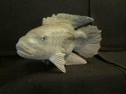 Sculpture POISSON Perche (?) Fish Fishing Fisch Fischerei Peche Déco Bois Decoration ! - Bois