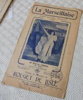 Fp1.f- Partition LA MARSEILLAISE Marthe Chenal Hymne Rouget De Lisle 1792 Marcel Labbé - Música & Instrumentos