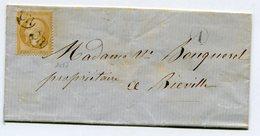 CALVADOS??? LSC Non Datée Pour BIEVILLE Avec N°21 Oblitéré OR + Boîte Rurale A - 1849-1876: Période Classique