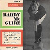 45 TOURS BARRY  MC GUIRE-- EVE OF DESTRUCTION - Vinyl Records