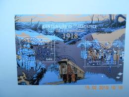FRANCE 2018 YTN°   FEUILLET  CENTENAIRE DE L'ARMISTICE Du 11 Novembre 1918  Timbre Neuf Oblitéré Cachet Rond - France