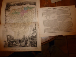 1880 : CONSTANTINE (Algérie)  --->Carte Géographique-Descriptive:grav.taille Douce-Migeon,géographe - Cartes Géographiques