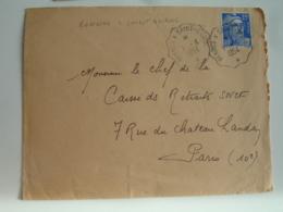 Rennes A Saint Brieuc Cachet Ambulant Convoyeur Ppste Ferroviaire Sur Lettre - Postmark Collection (Covers)