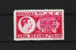 1938 - King Carol / Mois De Bucarest  Mi No 552 MNH - 1918-1948 Ferdinand, Carol II. & Mihai I.