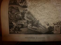 1880 : ALGER (Algérie)  --->Carte Géographique-Descriptive:grav.taille Douce-Migeon,géographe - Geographische Kaarten