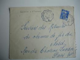 Loudeac A Saint Brieuc 1 Etoile  Cachet Ambulant Convoyeur Poste Ferroviaire Sur Lettre - Postmark Collection (Covers)