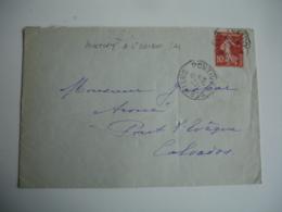Pontivy A Saint Brieuc Cachet Ambulant Convoyeur Poste Ferroviaire Sur Lettre - Postmark Collection (Covers)