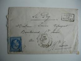 Lettre 1856 Paris Senat Etoile Apres Le Depart Pour Le Puy En Velay - Marcophilie (Lettres)