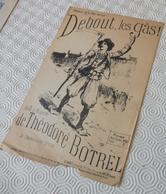 Fp1.h- Partition DEBOUT LES GAS Theodore Botrel Marche Des Chouans La Fleur De Lys 1793 Au Duc De Luynes - Música & Instrumentos