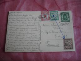 Lettre Taxee   Tilmbre Mixte  Recouvrement 60 C  Plus 2 Timbre Duval 10 C Et 45 C Obliteration Triangle - Postmark Collection (Covers)