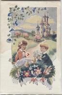 """CPA - ILLUSTRATION - Scène ENFANTINE - """"SOS Villages D'enfants De France - Edition Emcé - Dessins D'enfants"""