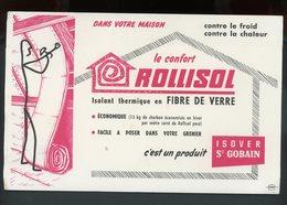 BUVARD:  LE CONFORT ROLLISOL - St GOBAIN - FORMAT  Env. 13,5X21 Cm - Buvards, Protège-cahiers Illustrés