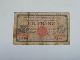 CAMERA DI COMMERCIO LIONE 1 FRANC  1917 - Camera Di Commercio