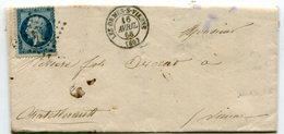 VIENNE De LES ORMES SUR VIENNE LAC Du 16/04/1866 Avec N°22 Oblitéré GC 2741 - Marcophilie (Lettres)