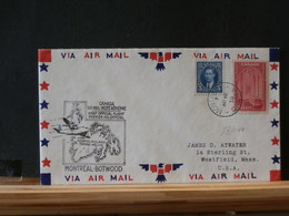 83/043 LETTRE  CANADA TO USA 1° VOL  1939 - Lettres & Documents