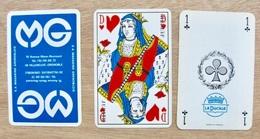 JEU DE 52 CARTES ET 2 JOKER SANS ETUI MG S.A. MAGASINS GRENOBLOIS 19 AVENUE MARIE-REYNOARD 38 VILLENEUVE-GRENOBLE - Cartes à Jouer Classiques