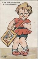 CPA - ILLUSTRATION Signée MATEJA - Scène ENFANTINE - Jeune Fille - Edition G.H - Dessins D'enfants