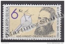 Czech Republic - Tcheque 1995 Yvert 91 Centenary Discovery X-Rays - MNH - República Checa