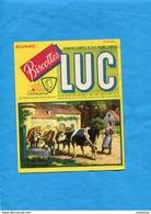 """-BUVARD-""""BISCOTTES LUC """" - CHATEAUROUX - Illustrée Scène De Ferme-vaches à L'abreuvoir Avec La Fermière-années 40-50 - Biscottes"""