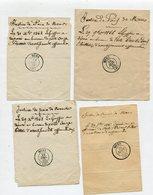 ISERE De MENS 4 Recepissé De Dépôt De Lettres De 1865 1866 1868 9 Avec Dateur T15 - Marcophilie (Lettres)
