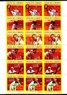 Comores 2035 / 40 Les Joueurs De Tennis ( Bandes De 3 Non Dentelés ) - Tennis