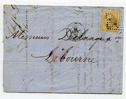 GIRONDE De LIBOURNE LAC En Port Local Du Chef De La Gare Avec N°21 Oblitéré GC 2032 - Marcophilie (Lettres)