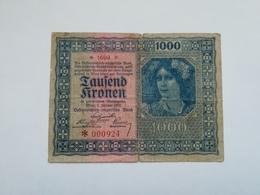 AUSTRIA 1000 KRONEN 1922 - Austria
