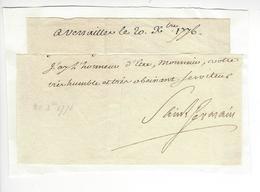 Comte De SAINT-GERMAIN 1776 AUTOGRAPHE ORIGINAL AUTOGRAPH /FREE SHIP. R - Autógrafos