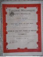 Tuileries Mecaniques SAINT MOMELIN          Nord 1895        (59) - Actions & Titres