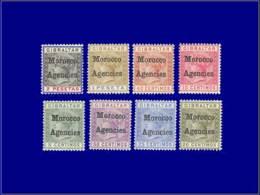 MAROC GB Poste * - 1/8, Complet - Cote: 200 - Otros