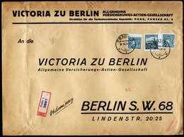 A5862) Czechoslovakia Grosser R-Brief Prag 27.03.36 N. Berlin - Briefe U. Dokumente