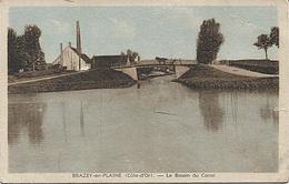 X120289 COTE D' OR BRAZEY EN PLAINE LE BASSIN DU CANAL CANAL DE BOURGOGNE ? PENICHE ? BATELLERIE ? - Autres Communes