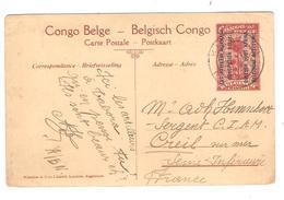 PR6332/ Entier CP 48 Est Africain Allemand Entrée Des Troupes Belges à Tabora C.Kigoma 1918 V.France - Entiers Postaux