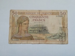 FRANCIA 50 FRANCS 1939 - 1871-1952 Gedurende De XXste In Omloop