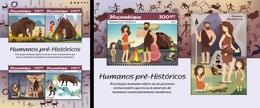 Mozambico 2018, Prehistoric Men, 4val In BF +BF - Prehistory