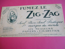 Buvard Extra/ Papier à Cigarette/ ZIG-ZAG/Fumez Le Zig-zag/1ére Marque Du Monde/Braunstein Fréres /1930-1950   BUV290 - Tabac & Cigarettes