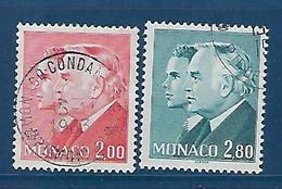 "Monaco YT 1374 & 1375 "" Princes Rainier III Et Albert "" 1983 Oblitéré - Monaco"