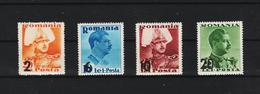 1937 - King Carol Mi No 543/546  MNH - 1918-1948 Ferdinand, Carol II. & Mihai I.