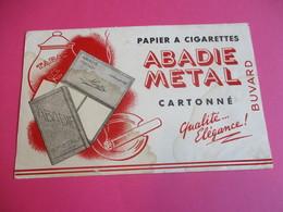 Buvard / Papier à Cigarette/ Abadie Métal/Cartonné/ Qualité Elégance //1930-1950   BUV291 - Tabac & Cigarettes