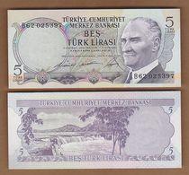AC - TURKEY - 6th EMISSION 5 TL B UNCIRCULATED - Turquie