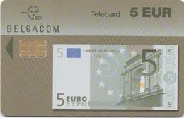 Télécarte Belgacom : 5 EUR Billet De Banque Valable Jusqu'au 31/03/2006 - Stamps & Coins