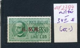 Italien Nr. Militär  33 II *    (ed2394 ) Siehe Scan - 1900-44 Victor Emmanuel III.